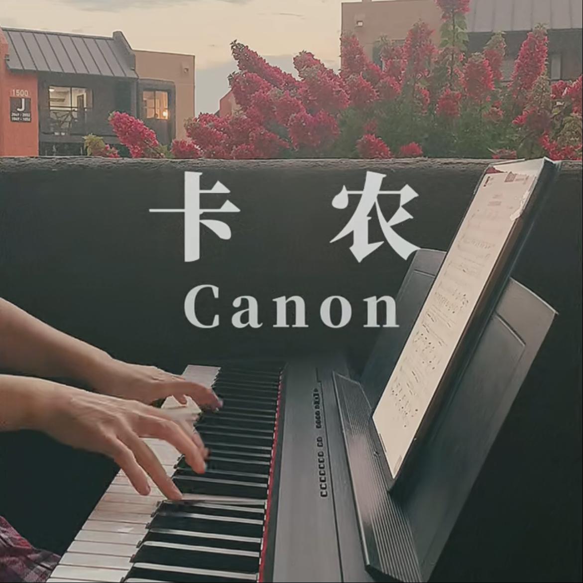 卡农●初学版-钢琴谱