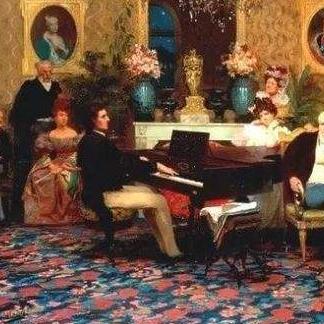 降E大调夜曲(四手联弹)钢琴简谱 数字双手
