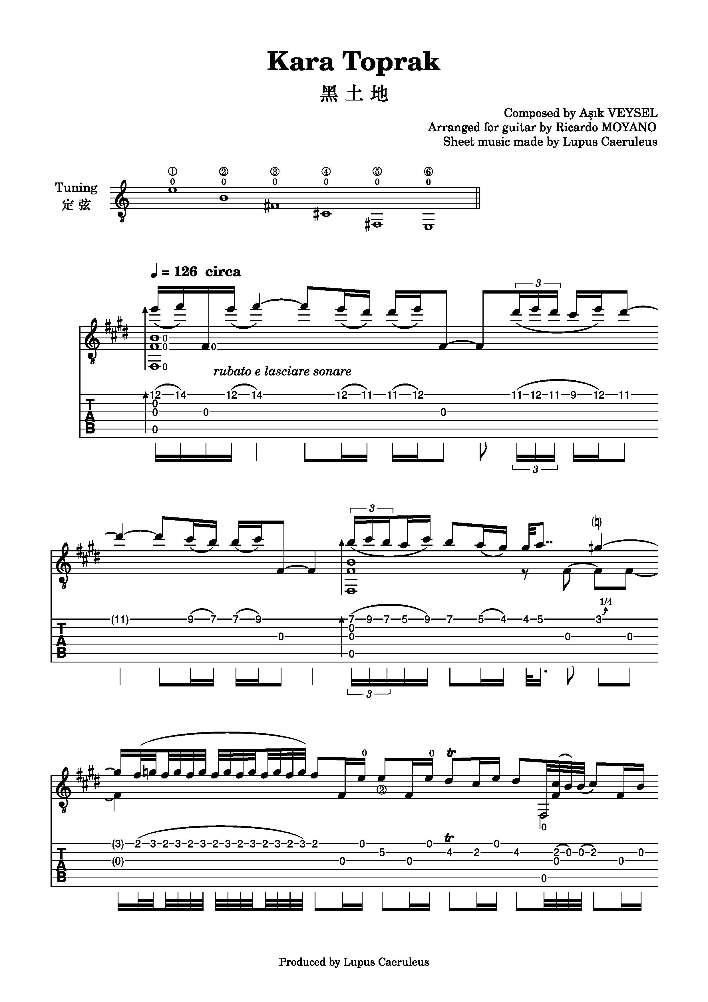 Kara Toprak(黑土地)- Ricardo Moyano