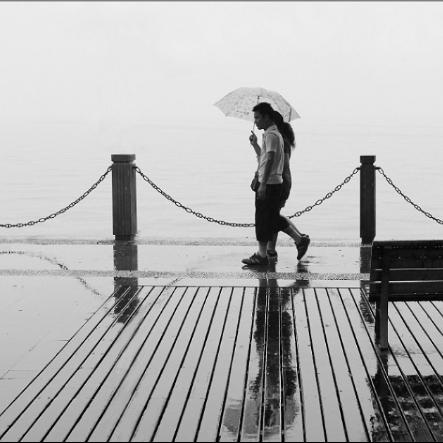 雨中漫步 简单演奏版 带指法-钢琴谱