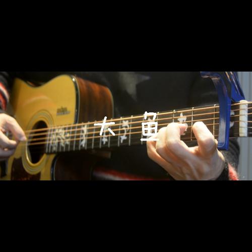 「吉他谱」-「大鱼」周深,降B小调简单版,变调夹夹1品弹原调